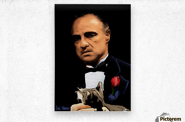 Marlon Brando - The Godfather  Metal print