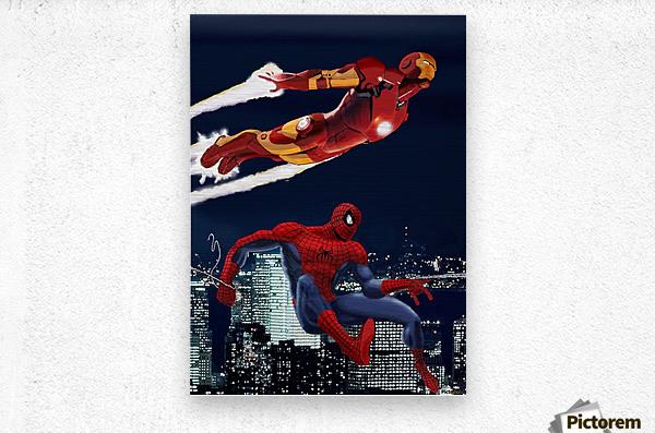 Marvel: Iron Man & Spider-Man  Metal print