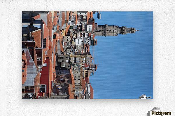 Oporto City the Clerigos Tower  Metal print