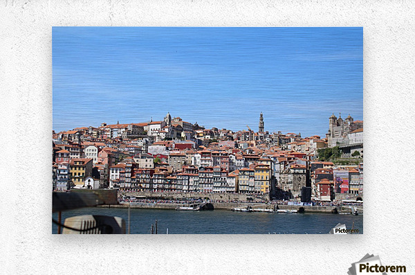 Oporto City at Douro River  Metal print
