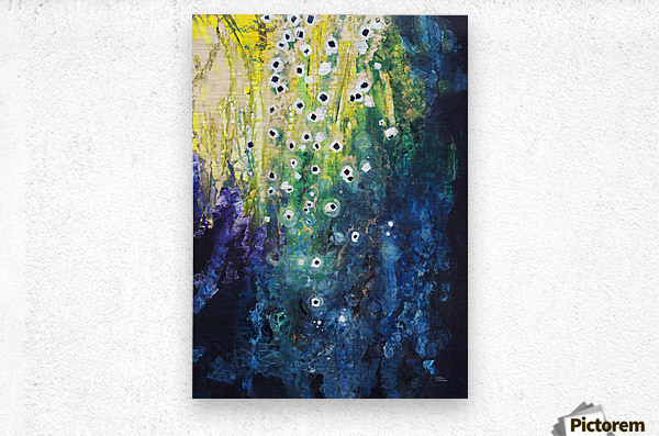 Abstract watercolor painting; Hawaii, United States of America  Metal print