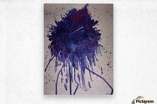 Space Splat  Metal print