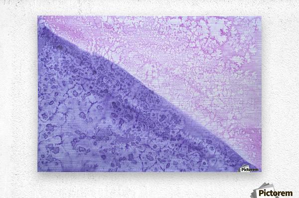 Magenta and Violet Rain.  Metal print