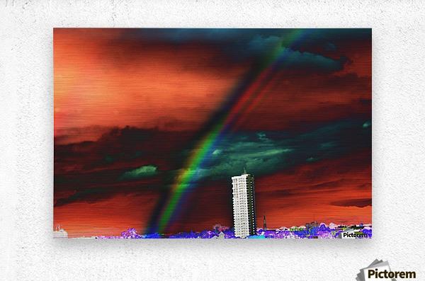Rainbow.  Metal print