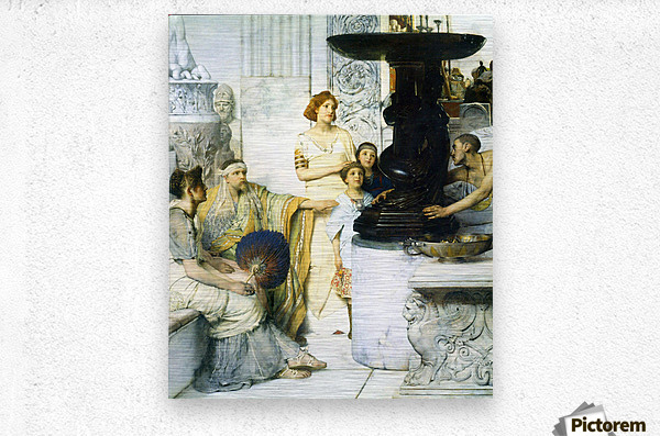 The Sculpture Gallery detail by Alma-Tadema  Metal print