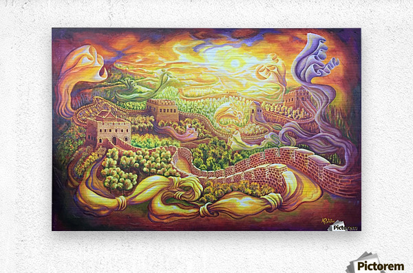 The dragons of the Great Wall  Metal print