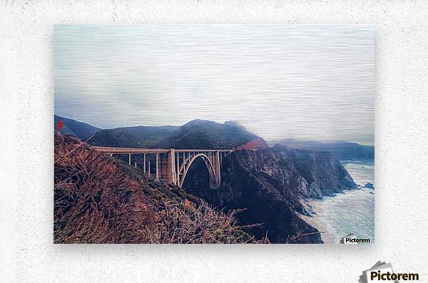 beautiful landscape at Bixby bridge, Big Sur, California, USA   Metal print