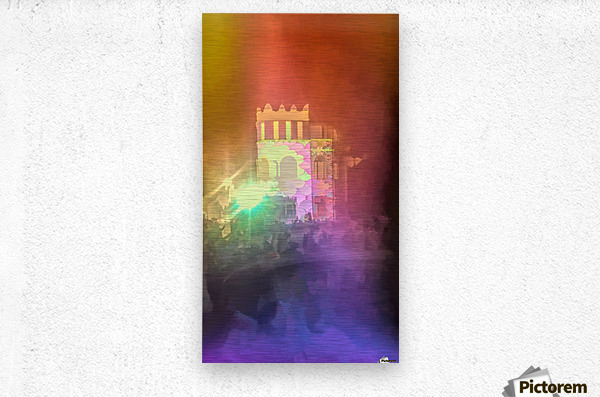 Festival Lights and Fire 2  Metal print