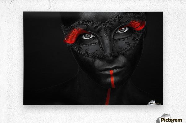 Dark passion  Metal print