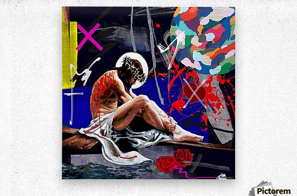 Christ X  Metal print