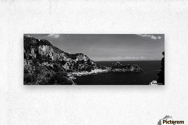 Super panoramic view Amalfi Coast - Italy  Metal print
