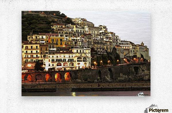 Amalfi Village  Landscape - Italy  Metal print