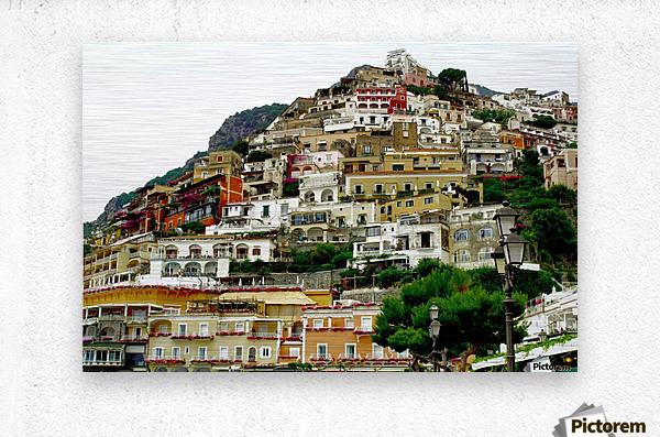 Positano Village in Amalfi Coast - Italy  Metal print