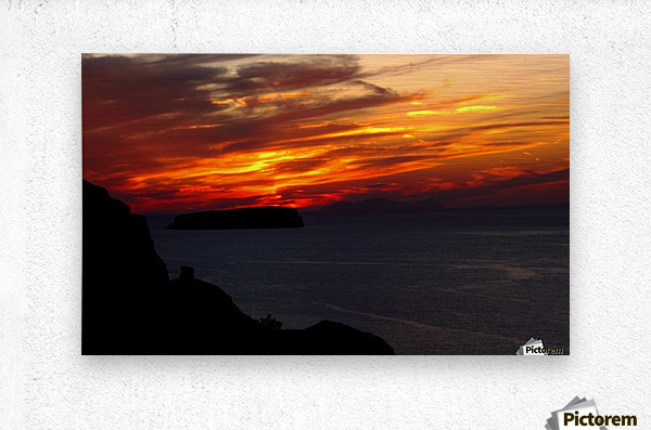 Amazing sunset   Metal print