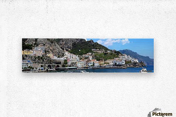 Super panoramic Amalfi City - Italy  Metal print