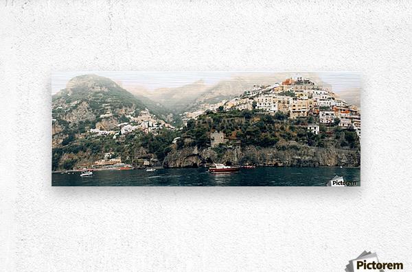 Panoramic Positano - Amalfi Coast - Italy  Metal print