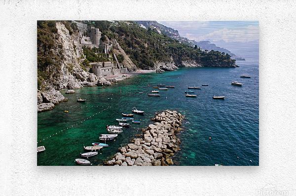 Amalfi Coast - Conca dei Marini Beach - Italy  Metal print