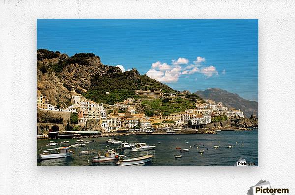 Amalfi Town - Panoramic View - Italy  Metal print