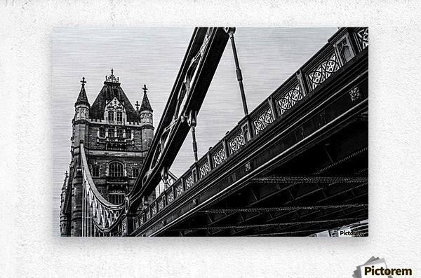 Tower Bridge Close up - London - Uk  Metal print