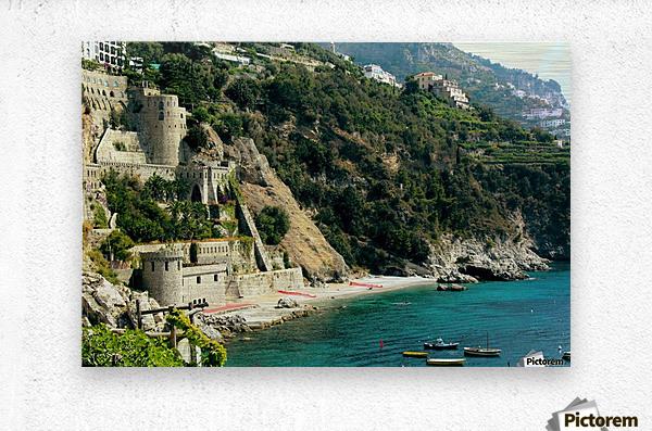 Amalfi Coast Beach - Italy  Metal print