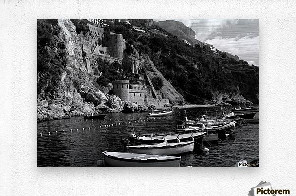 Beautiful View of Amalfi Coast Beach - Italy  Metal print