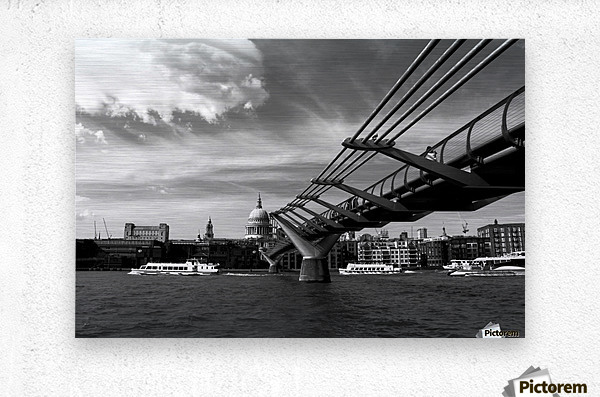 London Skyline -St Pauls Cathedral  Metal print