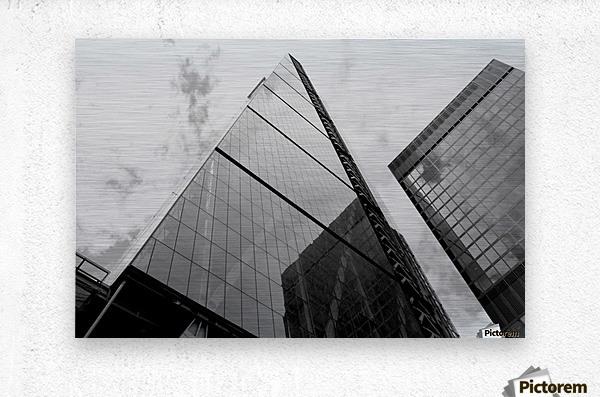 London Skyscraper III - Black and White  Metal print
