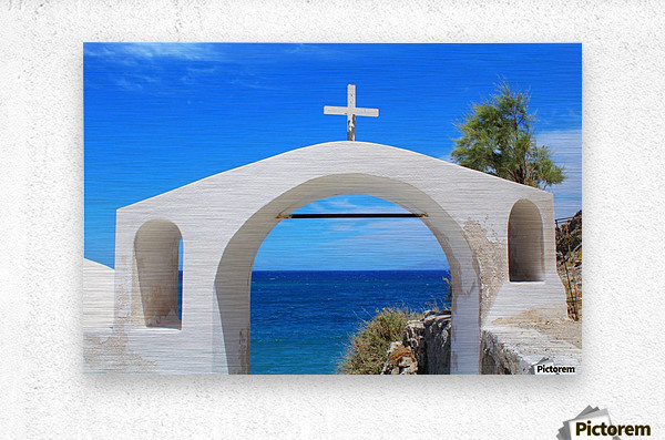 The Arch - Santorini Island  Metal print
