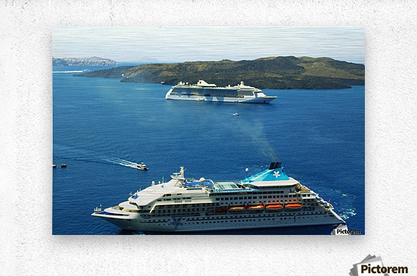 The Cruise Ship in the Blue Ocean  Metal print