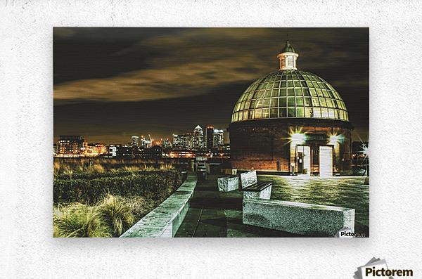 London Night skyline   Metal print