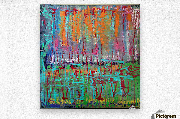 Three Ring Circus a Colorful Abstract Painting  Metal print
