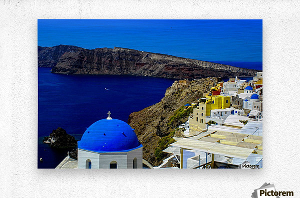 Santorini  - Super Colorful Landscape  Metal print