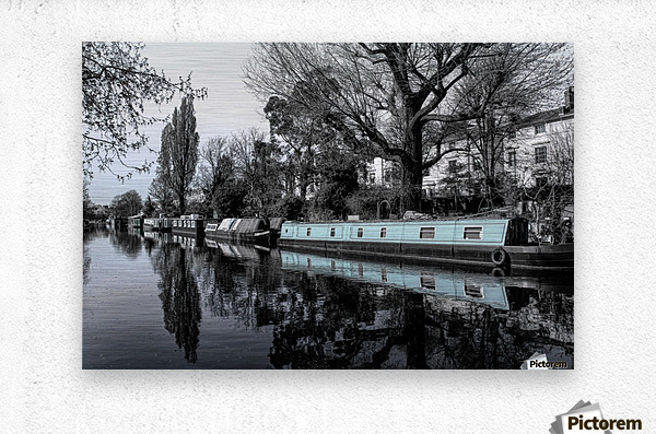 River and boats  Metal print