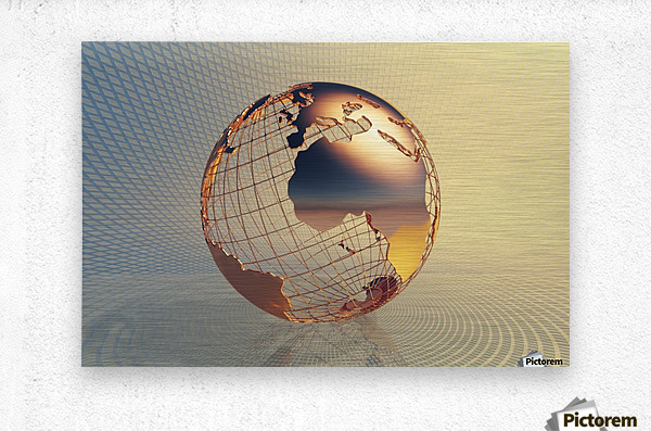 World global business background  Metal print