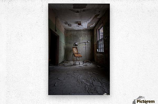 Abandoned Asylum  Metal print