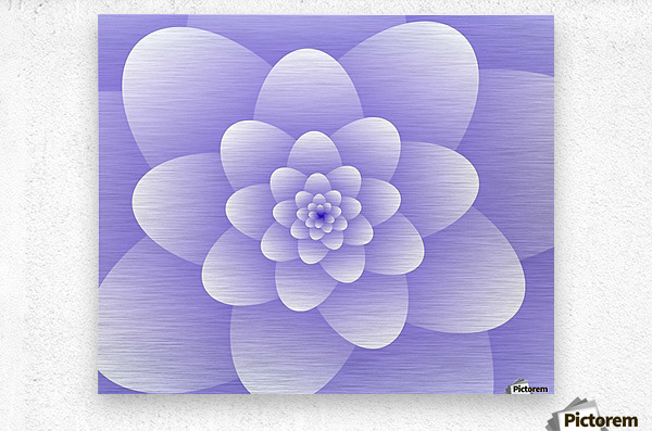 Purple Floral Spiral Artwork  Metal print