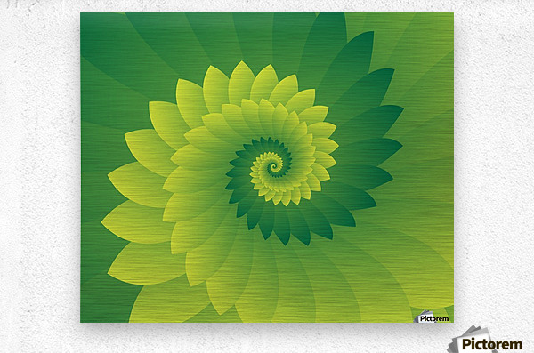 Shiny Greeny Art  Metal print