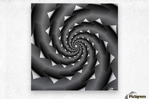 3d Abstract Spiral Design  Metal print