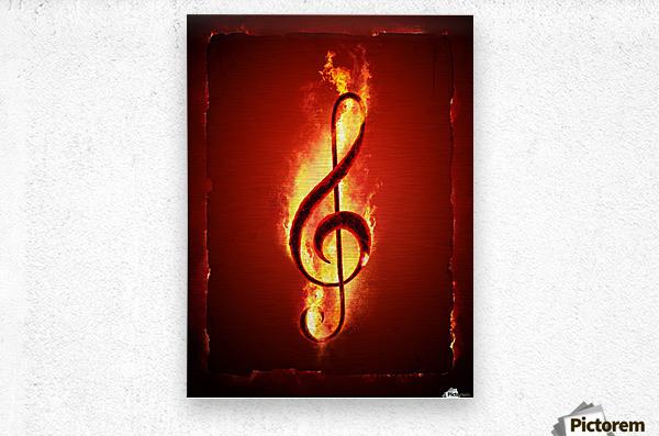 Hot Music  Metal print