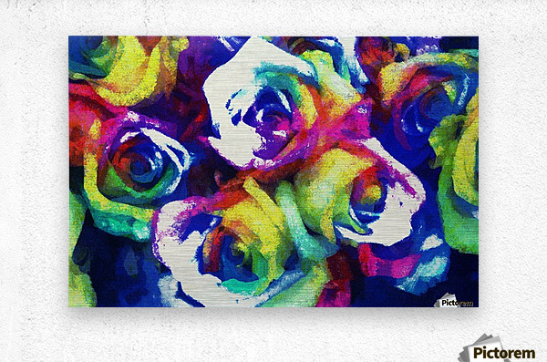 Love Me With Roses  Metal print