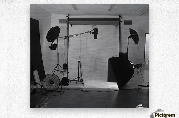 Black and White Studio  Metal print