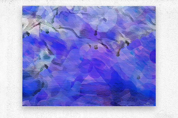 Textured Purple  Metal print