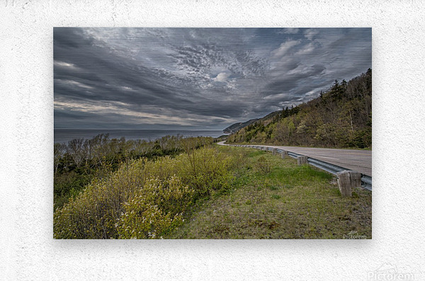 Springtime on the Cabot Trail  Metal print