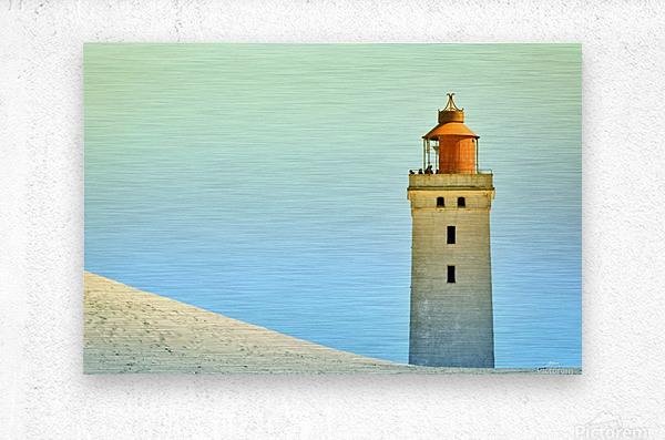 Lighthouse Rubjerg Knude  Metal print