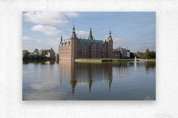 Castle of Frederiksborg   Metal print