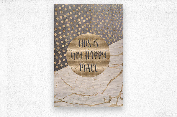 GRAPHIC ART This is my happy place  Metal print