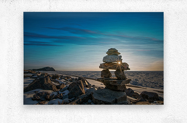 Inukshuk at la Bloc  Metal print