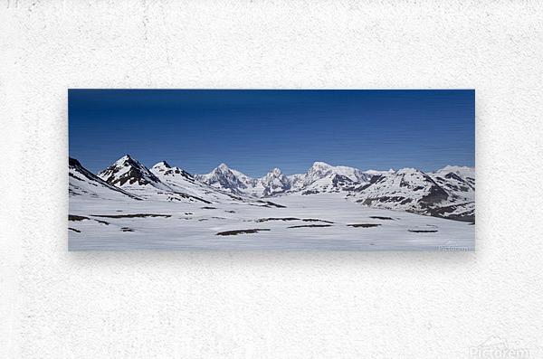 Mountain Range in South Georgia  Metal print