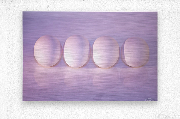 The Art of Eggs  Metal print