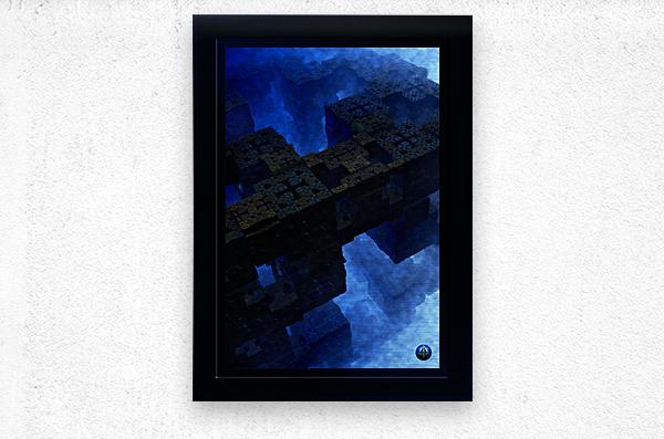 Stones Of Time Fractal Art  Metal print
